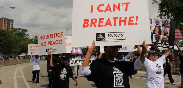 Black Lives Matter protesters in the US