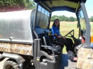 Kubota ride to pick up equipment & activities
