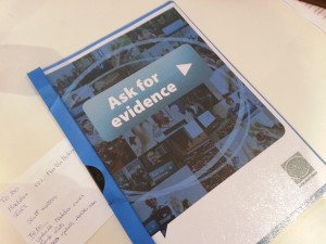 The Ask for Evidence campaign