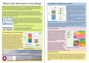 Zero Carbon Britain Anti-fracking flyer