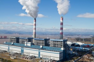 A coal fired power plant in China's Zheijiang province