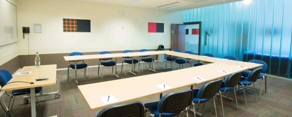 A light and airy meeting room for a content discovery workshop