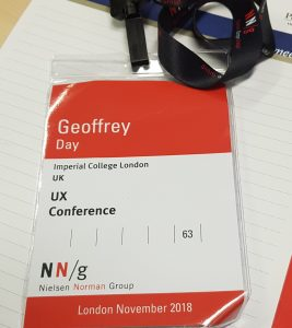 Lanyard for the UX conference in November