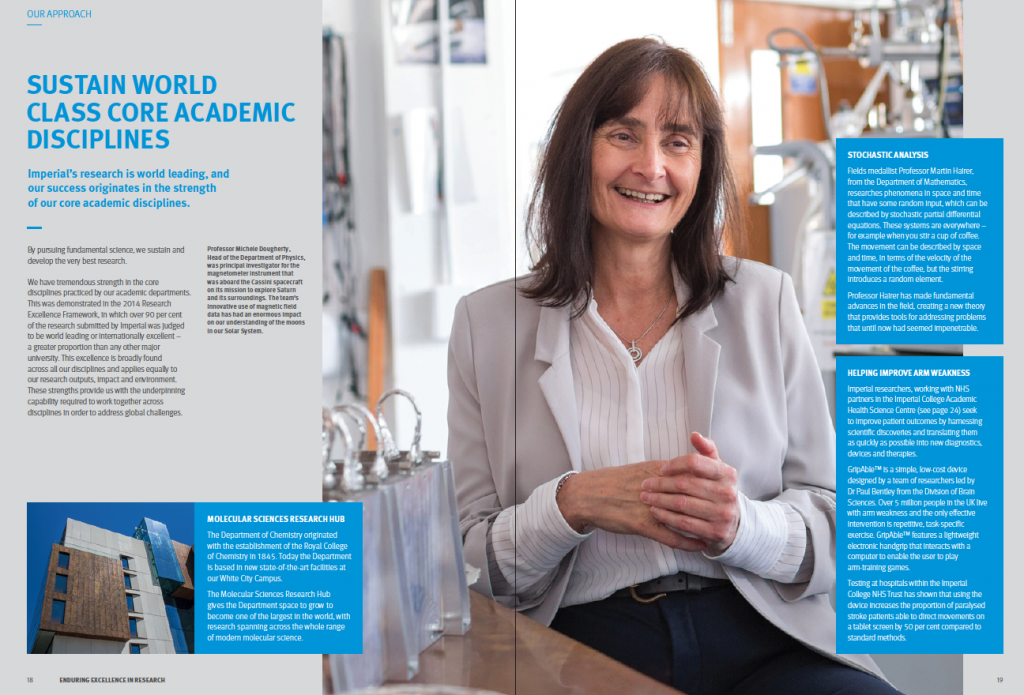 Sustain world class core academic disciplines page from the Enduring excellence in research publication