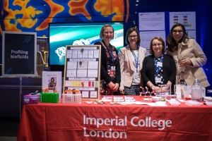 Behind the stand at the Women@imperial event