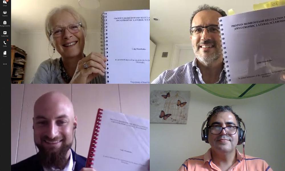 A screenshot of Luigi Montibeller's PhD viva examination