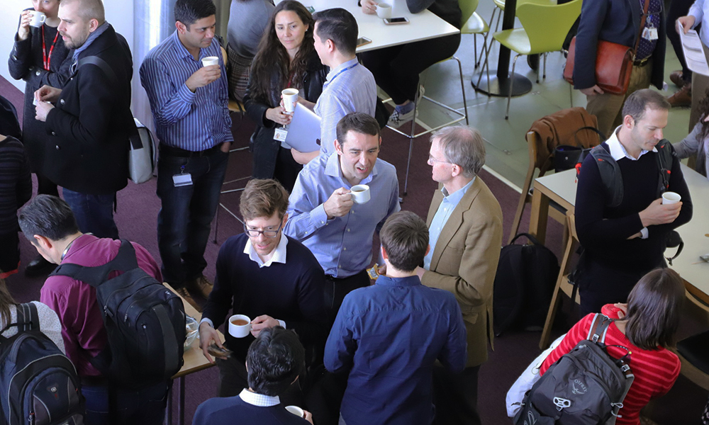 Colleagues talking at last year's Infectious Diseases Away Day