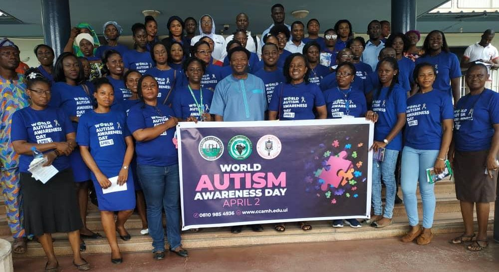 Staff and students at the Centre for Child and Adolescent Mental Health at University of Ibadan, Nigeria. Dr Ani helped to establish the postgraduate training programme in Child and Adolescent Mental Health now run by the Centre.