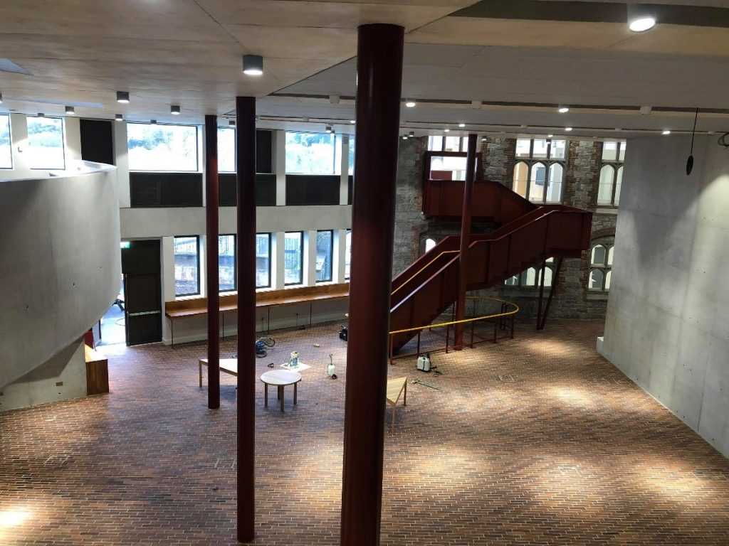 UCC student hub interior, a big empty space