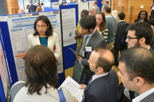 Group discussing issues during poster session