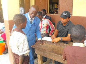 Children being mapped for worms in Osun State