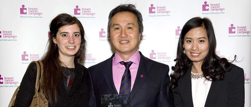 Prof Eric Lam's research group Breast Cancer Campaign's 'Research Team of the Year'