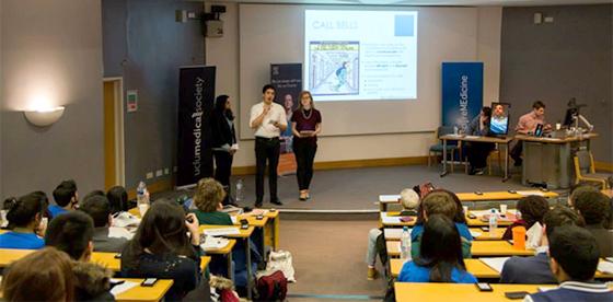Martin Bamford, Ishani Barai and Claire Brash presenting. Image courtesy of UCL Photo Society