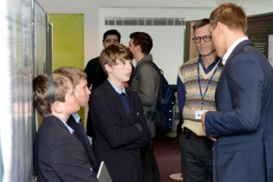 Dr Jonathan Underwood and Dr Pascal Durrenberger speaking to Misbourne School students