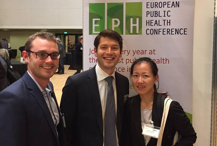 Dr Raffaele Palladino, Miss Kiara Chang and Mr Thomas Hone at the European Public Health Conference in Milan October 2015.