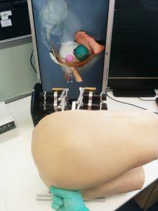 ICCESS prototype haptic simulator for rectal examinations