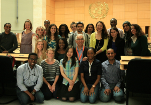 Participants of the WHO HQ trip