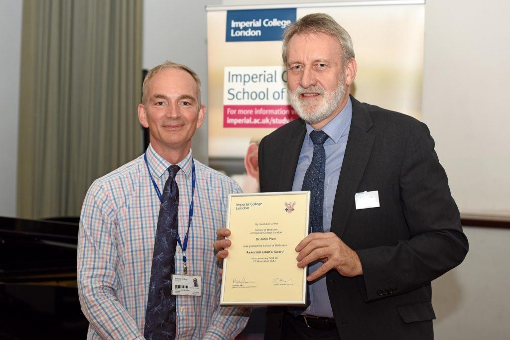 Mr Martin Lupton and award-winner Dr John Platt