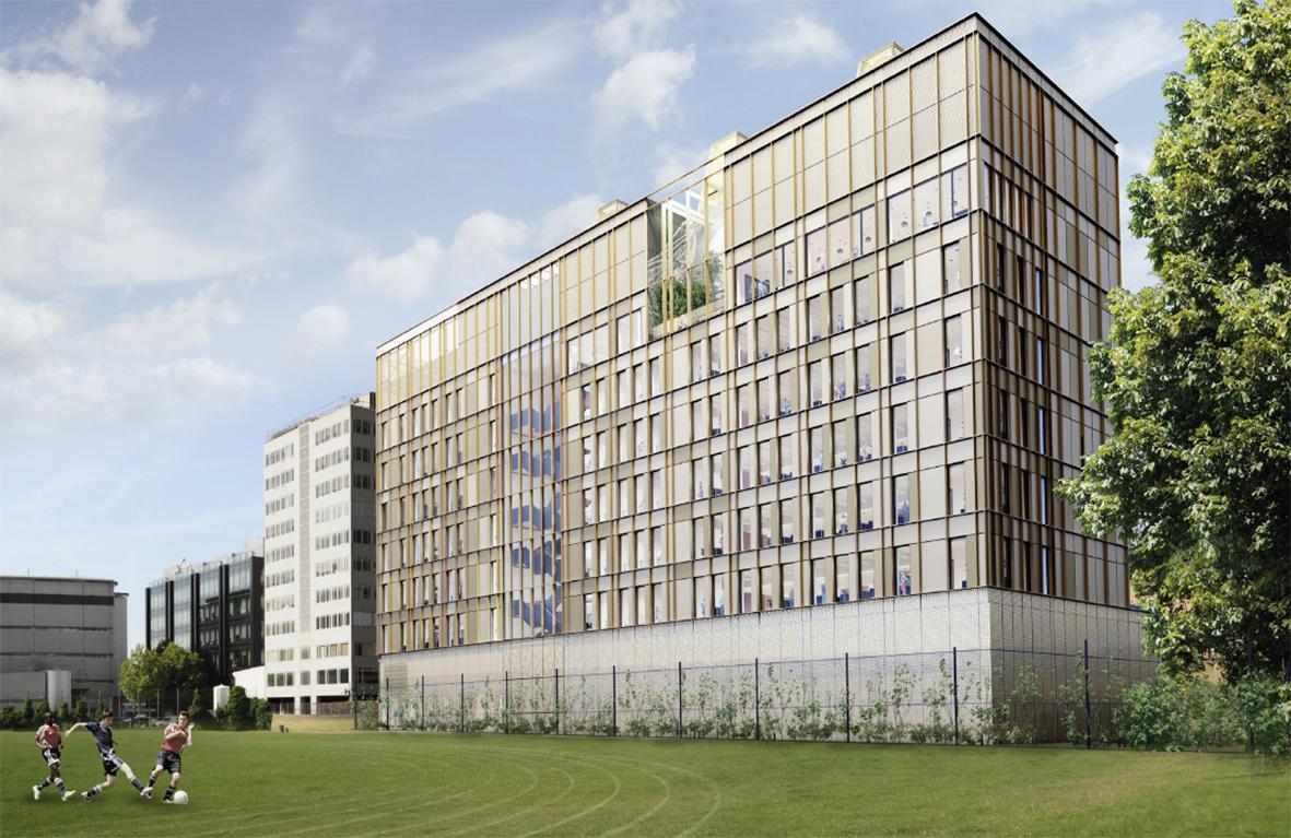 Visualisation of new building. Image credit: Hawkins\Brown