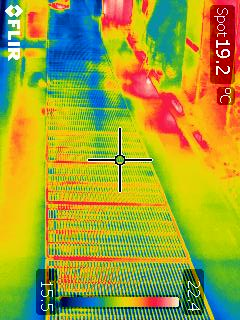 Thermal image of aisle airflow dampers 1