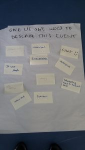 Post it notes from the sleep workshop