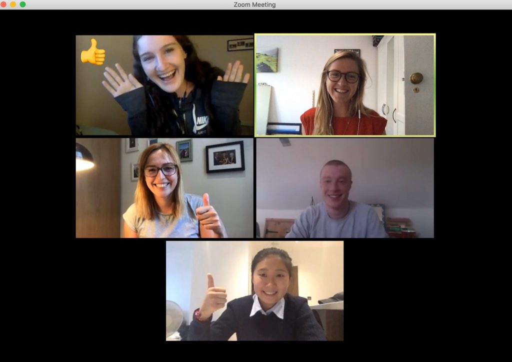 Mental health researchers on a zoom call