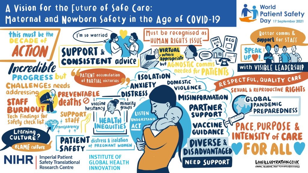 An illustration of maternal safety for world patient safety day