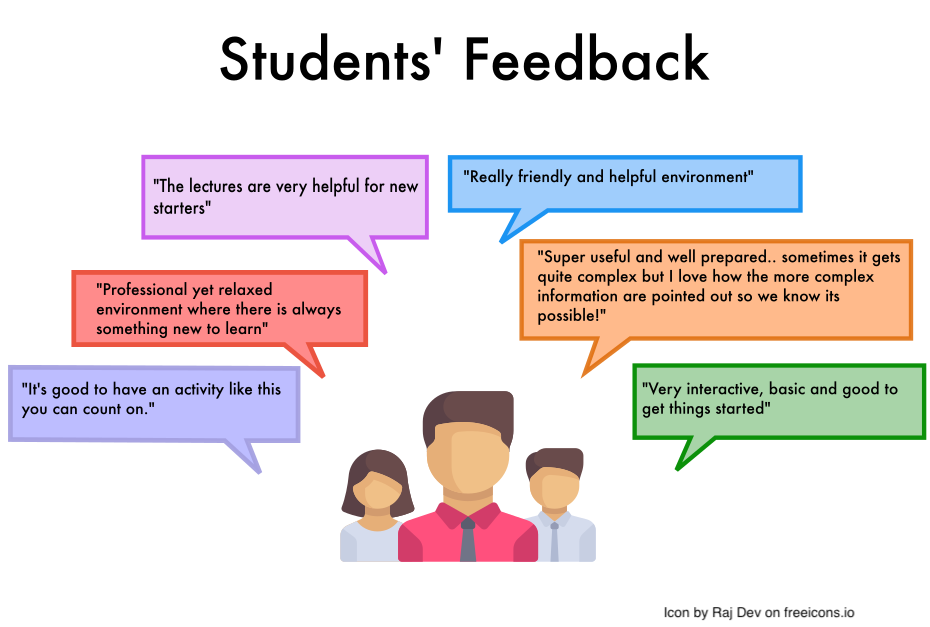 An image which outlines some student feedback