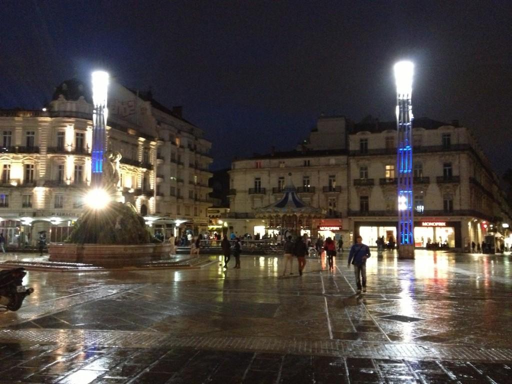 Place de la Comédie at night