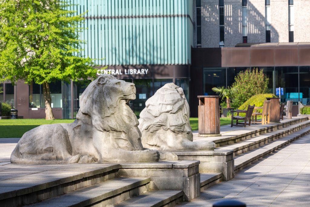 Imperial Campus (lion statue)