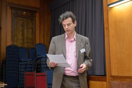 Neil Jacobs from Jisc speaking at UK ORCID members meeting