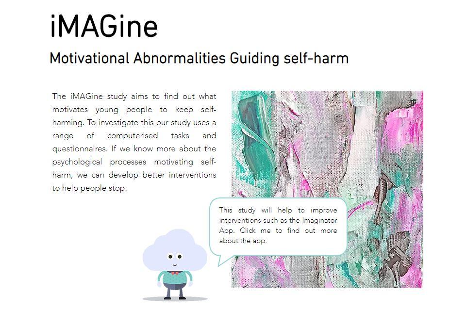 Screenshot of iMAGine website