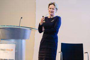 Baroness Dido Harding giving a talk