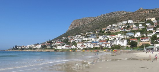 Quick paddle in the sea at Fish Hoek