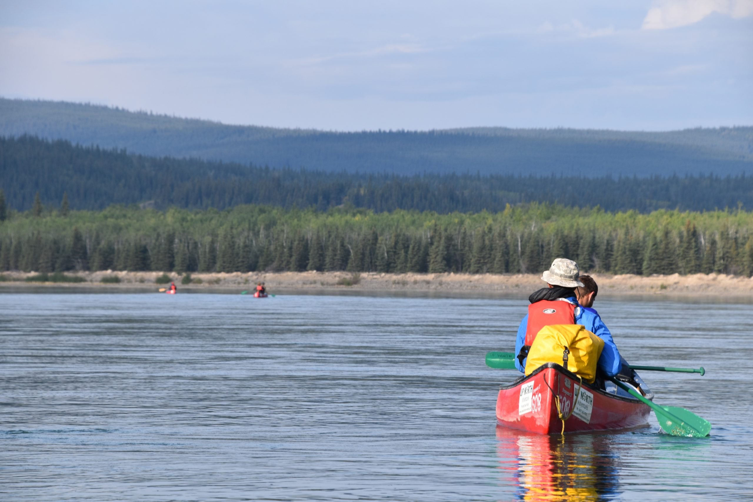 Young Exploreres canoeing in Canada. Copyright Leigh Bowman