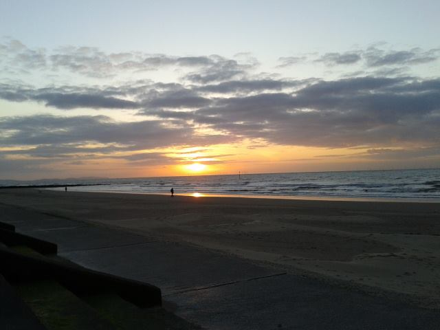 Sunset at Prestatyn Sands