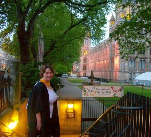 Victoria outside the Natural History Museum after graduating with MSc Taxonomy and Biodiversity