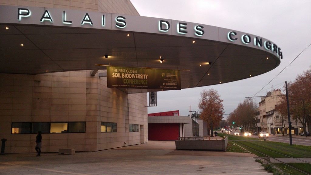 Palais des Congrès, Dijon, venue for the First Global Soil Biodiversity Conference