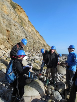 Natural History Museum postgraduates at Osmington Mills