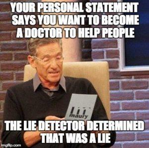 personal statement lie