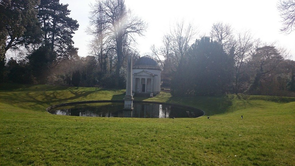 Ionic Temple and Obelisk at Chiswick House and Gardens