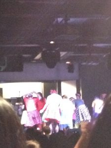 Sorry for the horrible quality, everybody was jostling to get photos an videos of the performance.