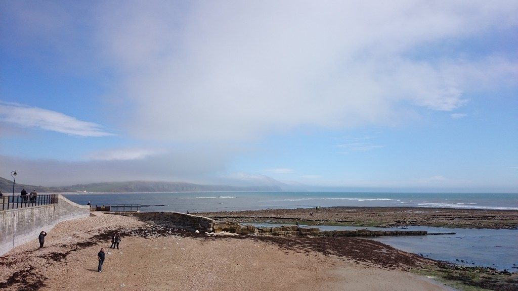 Lyme Regis seaside - thankfully the sun eventually came out!