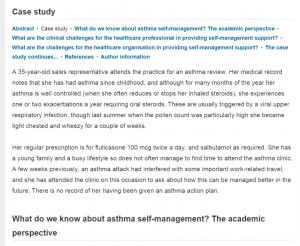 asthma case