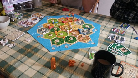 The Settlers board is very odd