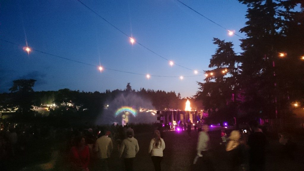 Light displays over the water at Latitude