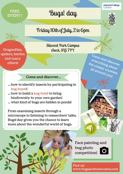Silwood Park Bugs! day flyer