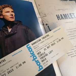 I couldn't take pictures inside the theatre, so the programme and the tickets will have to do :)