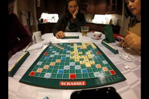 seasonal family game of scrabble