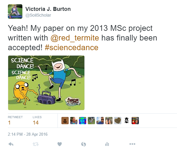 Paper accepted! #sciencedance